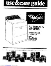 Whirlpool LE7685XP User Manual (12 pages)