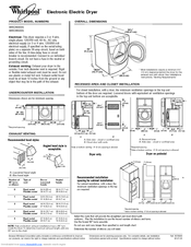 Whirlpool WED8500S Manuals