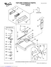 Whirlpool Cabrio WGD6600VW0 Manuals