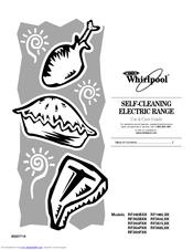 Whirlpool RF196LXK Manuals