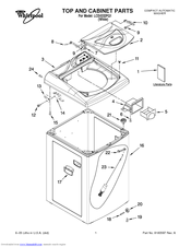 Whirlpool LCE4332PQ1 Parts List