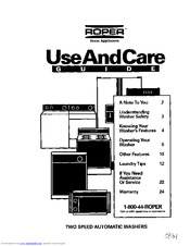 Whirlpool Roper RAL6245BL0 Use And Care Manual (24 pages)