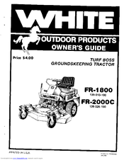 White Outdoor Products FR-1800 Manuals