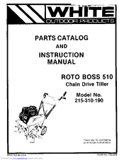 White Outdoor ROTO BOSS 510 215-310-190 Manuals
