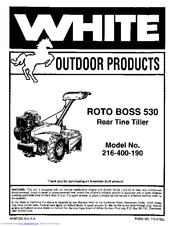 White outdoor Roto Boss 530 216-400-190 Manuals