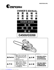 Zenoah G5000 Manuals