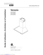 Zephyr Venezia ZVE-E42AS Manuals