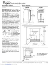 Whirlpool DU018DWTB Manuals