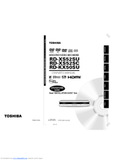 Toshiba RD-KX50 Manuals