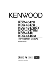 Kenwood KDC-4047U Manuals