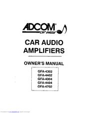Adcom GFA-4402 Manuals
