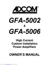 Adcom GFA-5002 Manuals