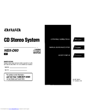 Aiwa NSX-D60 Manuals