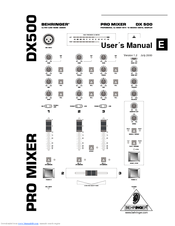 Behringer DX500 Manuals