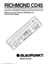 Blaupunkt Richmond CD45 Manuals