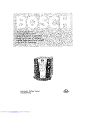 Bosch TCA6301UC Manuals