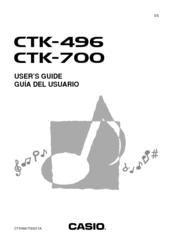 Casio CTK-496 Manuals