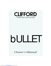 Clifford Bullet 2 Manuals