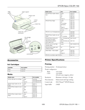 Epson Stylus COLOR 1160 Manuals
