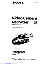Sony Handycam CCD-FX230 Manuals