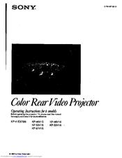 Sony KP-46V15 Manuals
