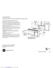 Ge JVM1740SPSS Manuals