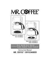 Mr. coffee NLX23 Manuals