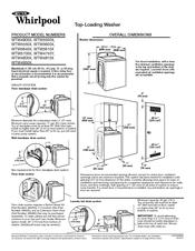Whirlpool WTW4850XQ Manuals