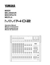 Yamaha MM1402 Manuals