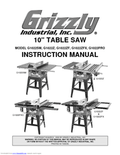 Grizzly G1022Z Manuals