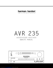 Harman Kardon AVR 235 Manuals