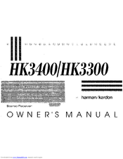 Harman Kardon HK3400 Manuals