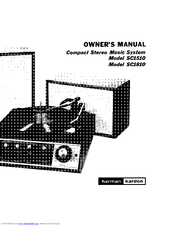 Harman Kardon SC18 Manuals