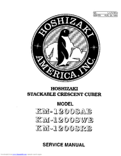 Hoshizaki KM-1200SRE Manuals