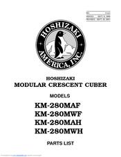 Hoshizaki KM-280MWH Manuals