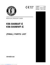 Hoshizaki KM-500MWF-E Manuals