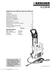 Karcher K 2.91 M Manuals