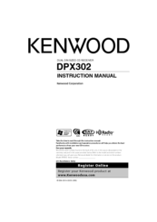 Kenwood DPX302 Manuals