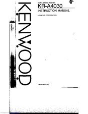 Kenwood KR-A4030 Manuals
