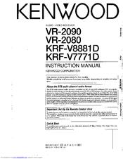 Kenwood VR-2090 Manuals