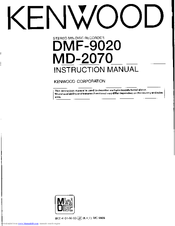 Kenwood DMF-9020 Manuals