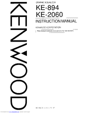 Kenwood KE-2060 Manuals