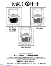 Mr. Coffee ADX13 Manuals