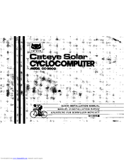 Cateye CC-2000 Manuals