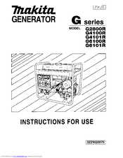 Makita G6101R Manuals