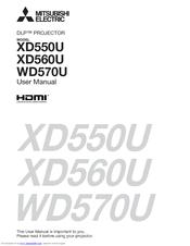 Mitsubishi DLP XD560U Manuals
