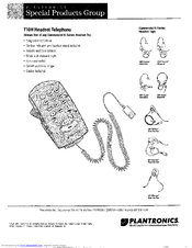 Plantronics T10H Manuals