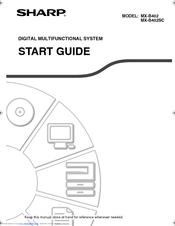 Sharp MX-B402SC Manuals