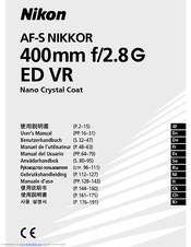 Nikon AF-S Nikkor 300mm f/2.8G ED VR II Manuals