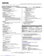 Toshiba L455D-S5976 Specifications (3 pages)